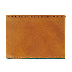 J.Fold Clearcut wallet in Brown/Teal