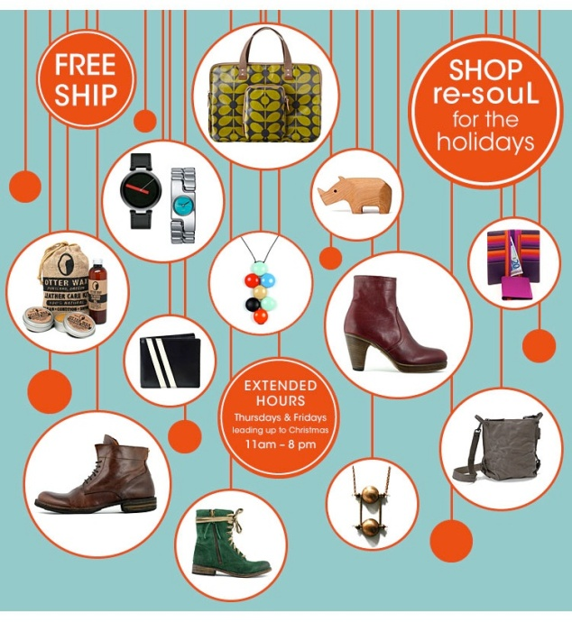 shop re-souL for the holidays
