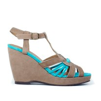 Esska Wanda in Grey/Turquoise - resouL.com