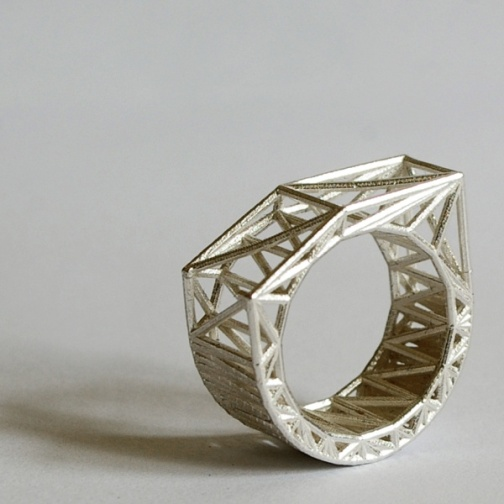 3D silver ring by shapeways.com