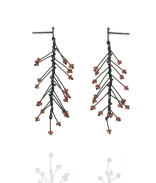 Branch Earrings with Garnets