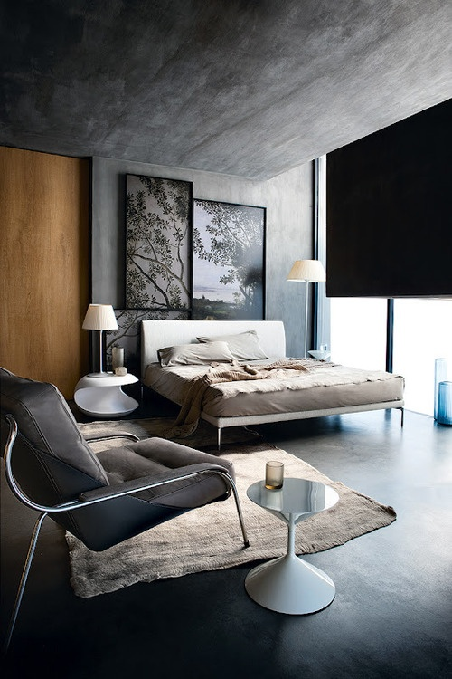 The grey tones of this room call to me to sleep.