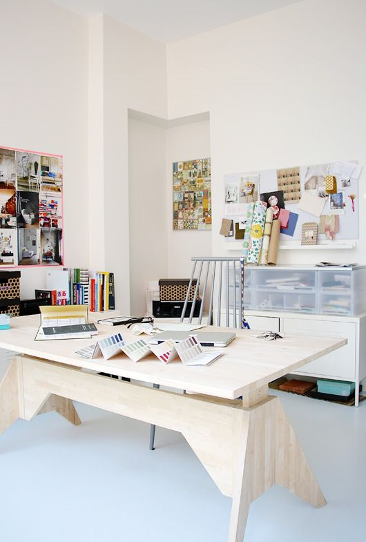 Home office by Holly Marder via Decor8