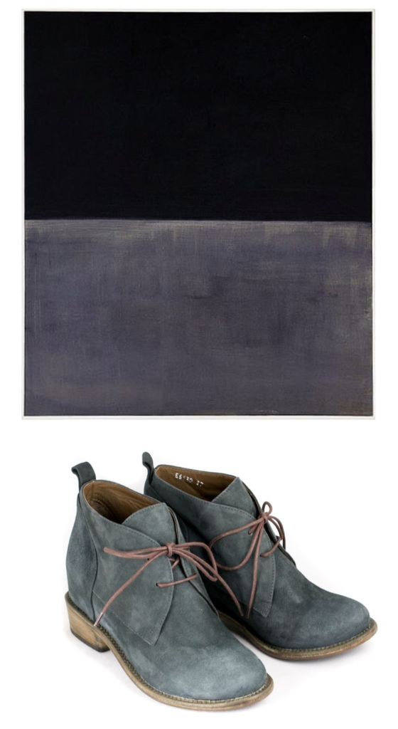 Mark Rothko Untitled (Brown and Gray) 1969, Argila desert boot in gray suede