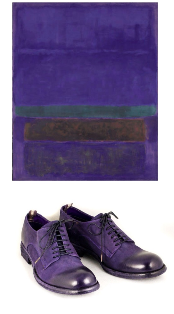 Mark Rothko Untitled(Blue, Green, Brown), 1952 and Officine Creative purple oxford