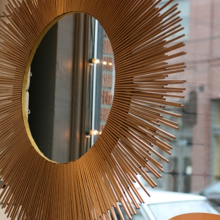 Gold Paper Straw Wreath at re-souL