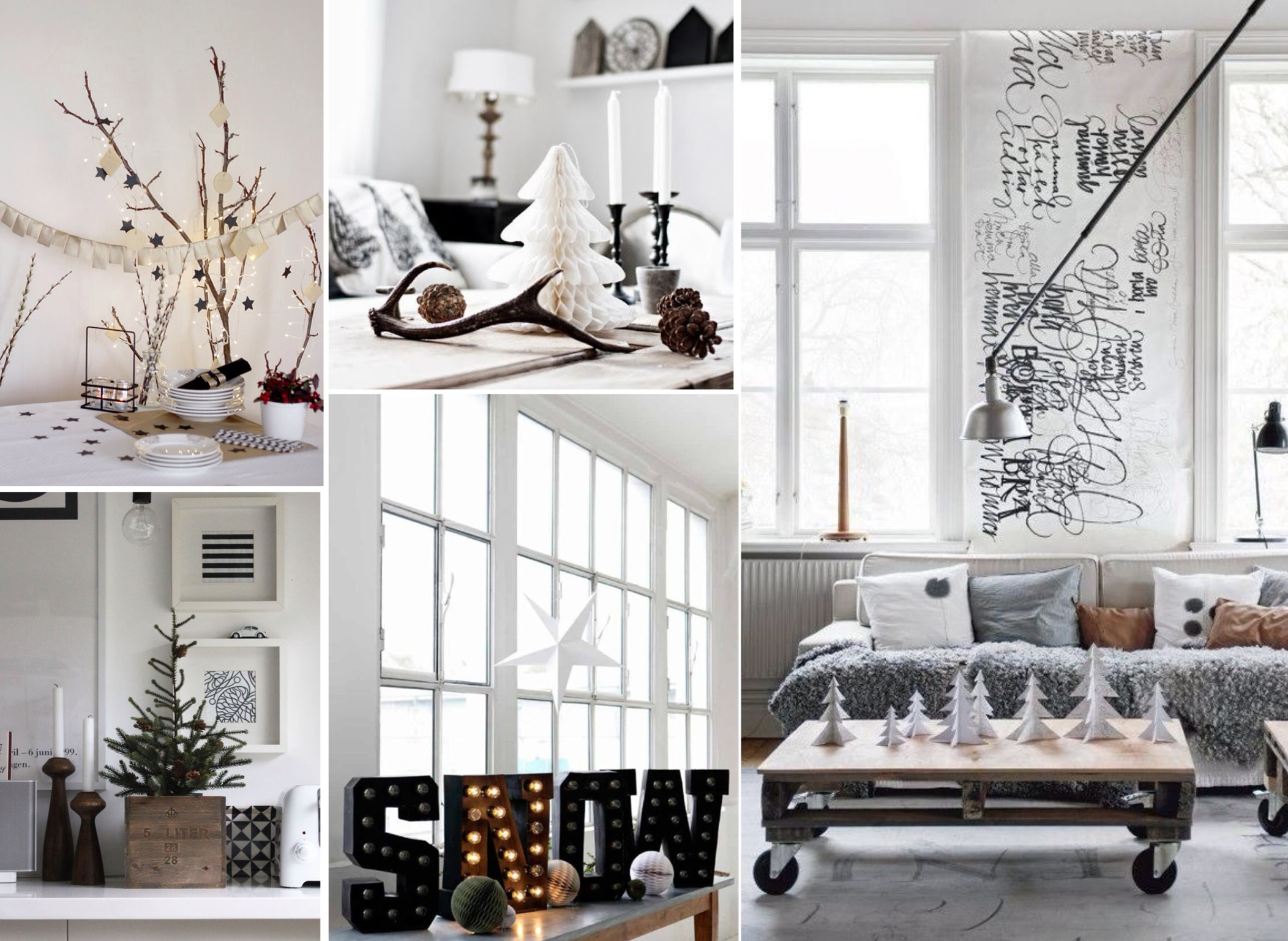 Modern christmas Natural decorating