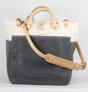 Garrison Tote in grey and natural