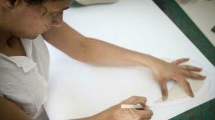 Anat working in her studio.