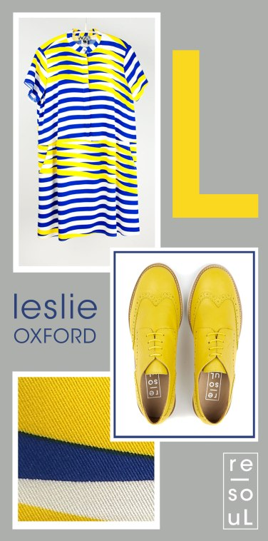 re-souL leslie oxford in canary yellow