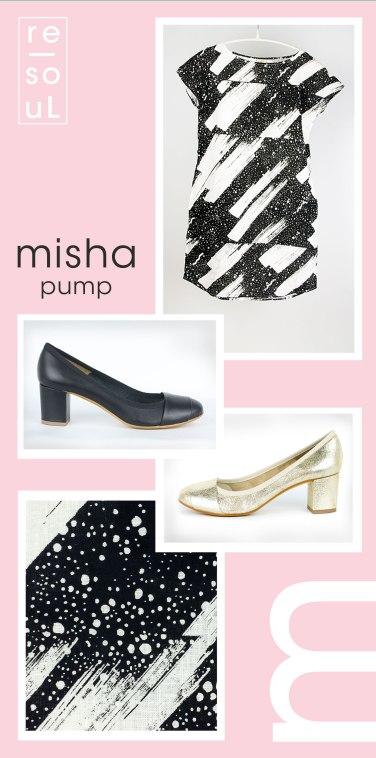 re-souL misha classic pump in black or platnium