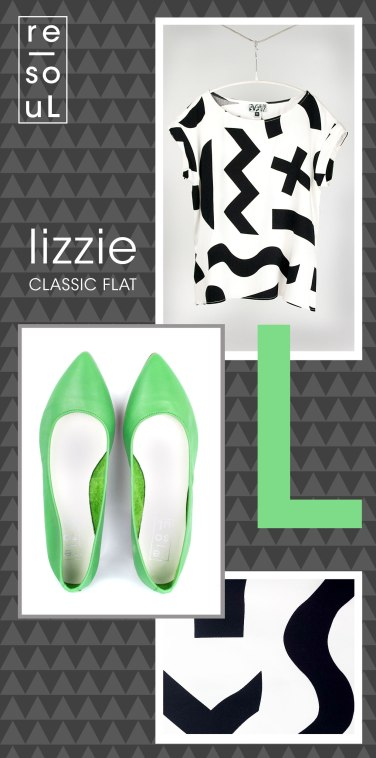 re-souL lizzie flat in spearmint