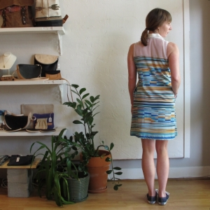 Glenna Stripe Dress by Reif at Velouria