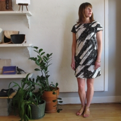 Original print Comet print dress by Gravel and Gold San Francisco at Velouria
