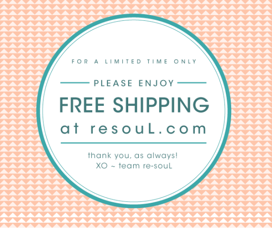 FREE SHIPPING AT resoul.com