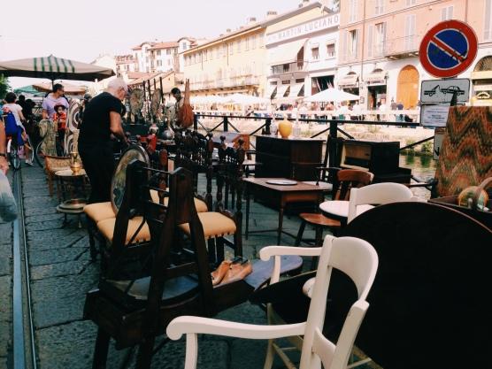 navigli flea market - 2