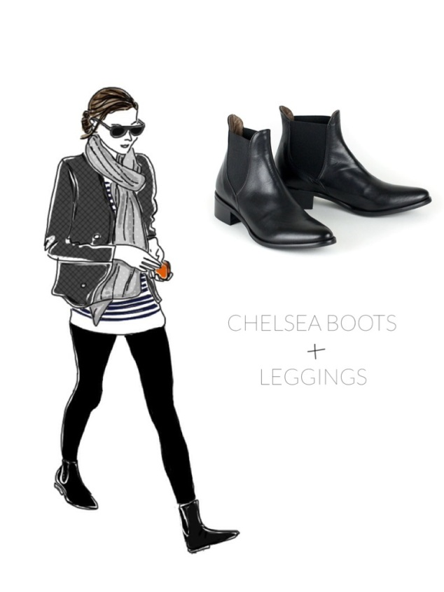 Chelsea Boots with Leggings