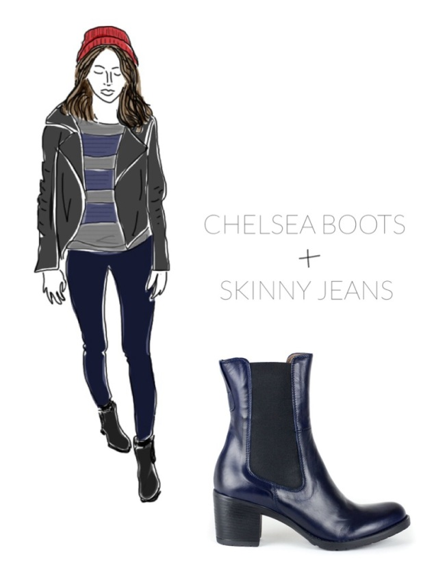 Chelsea Boots with Skinny Jeans