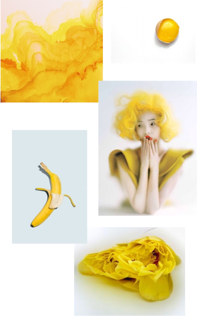 yellow mood board