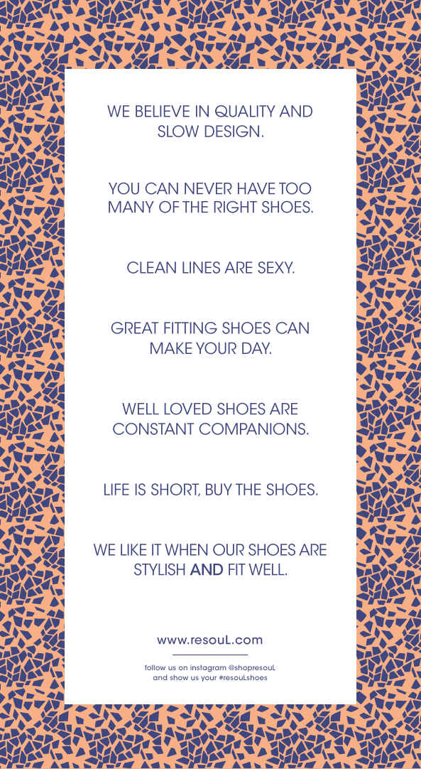 re-souL shoes mantra