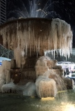 Frozen Fountain at Bryant Park