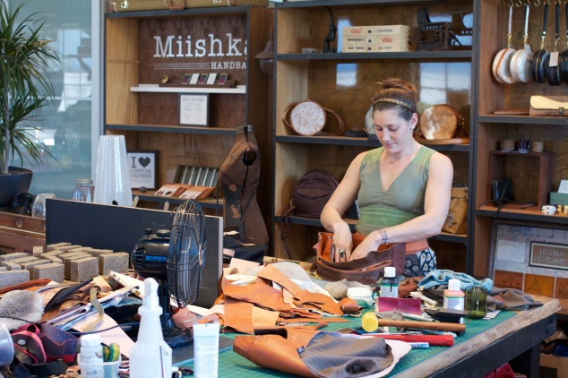 Michelle Pozniak of Miishka Handbags Studio