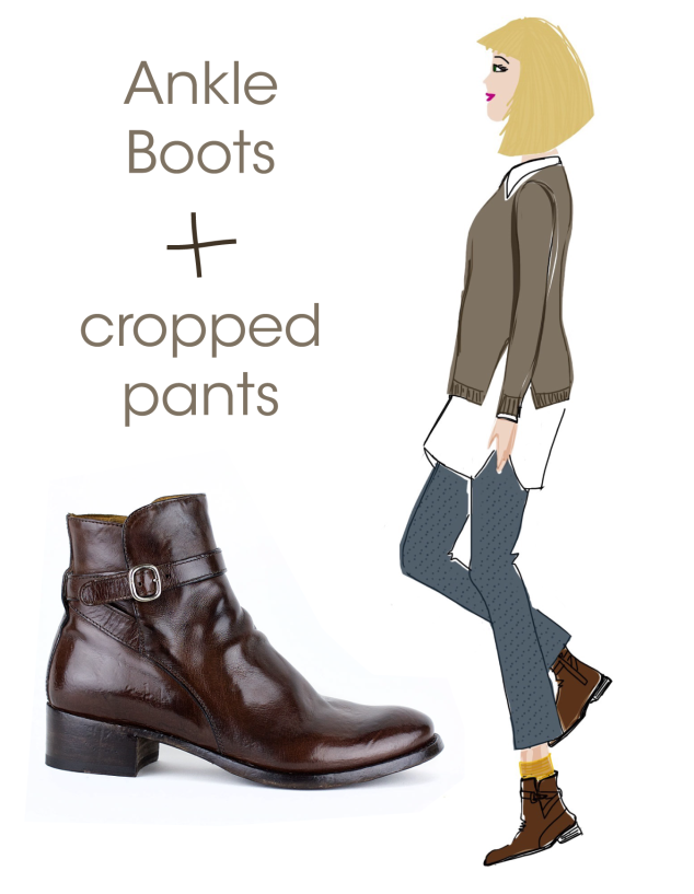 What to Wear with Officine Ankle Boots