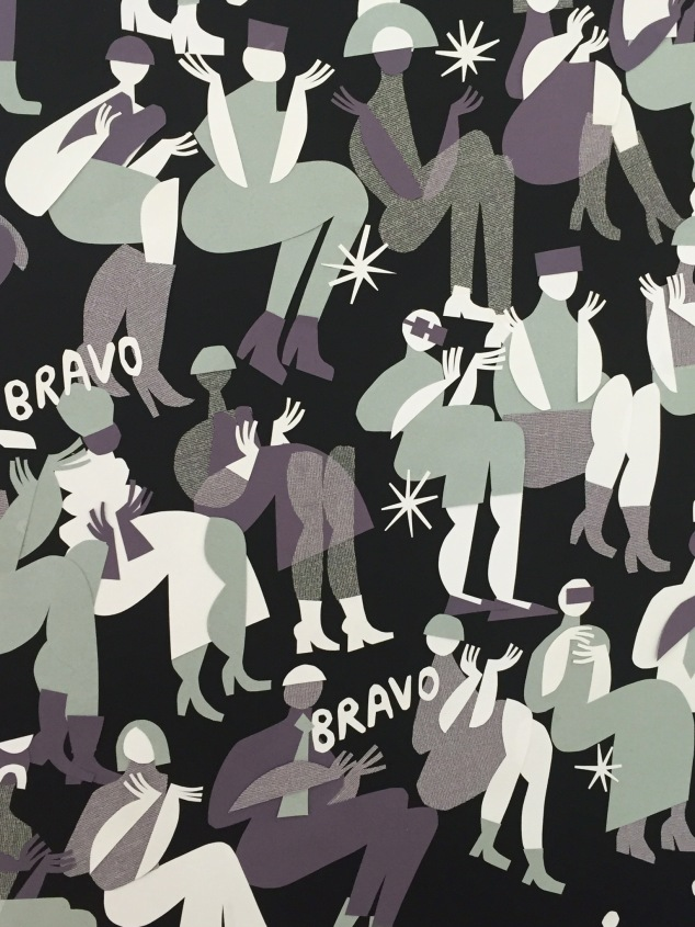 Cut paper illustration from Gio Pastori for Triennale di Milano.