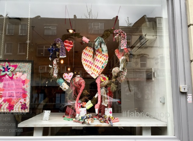 Window display at Ray-Stitch, Shoreditch