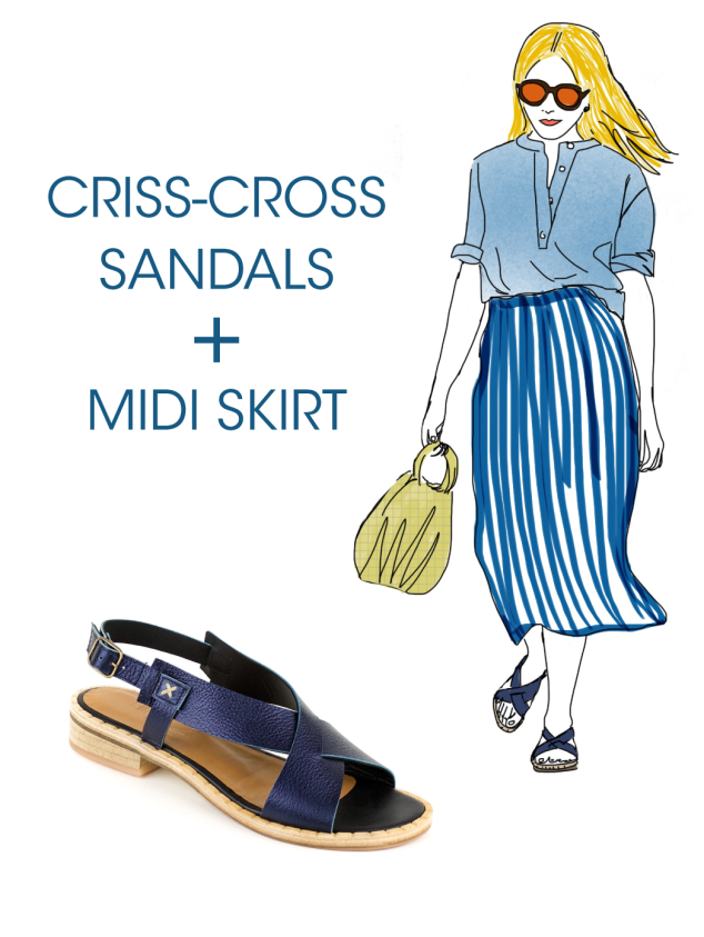 What to wear with Kupuri Criss-Cross Sandals