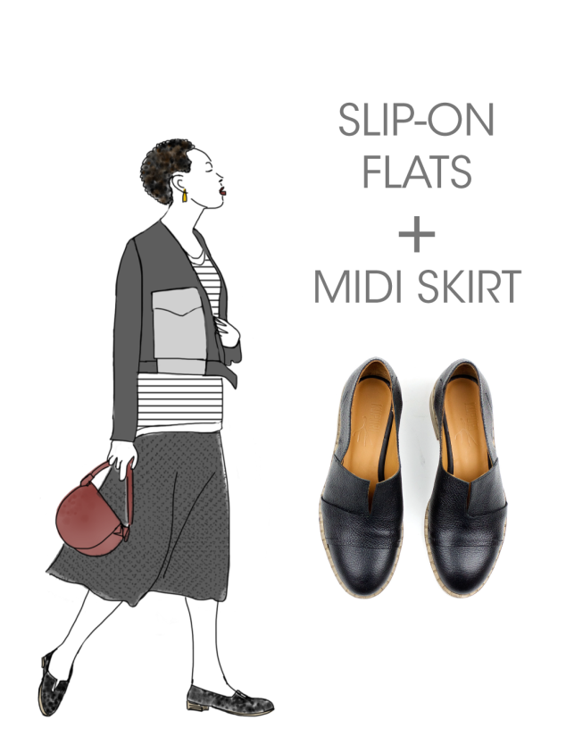 What to wear with Kupuri Slip-on Flats