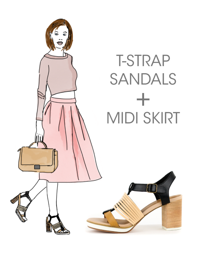 What to wear with Kupuri T-strap Sandals