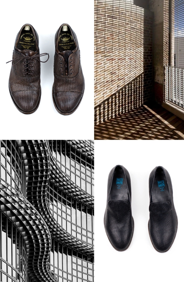 Officine & MOMA woven shoes