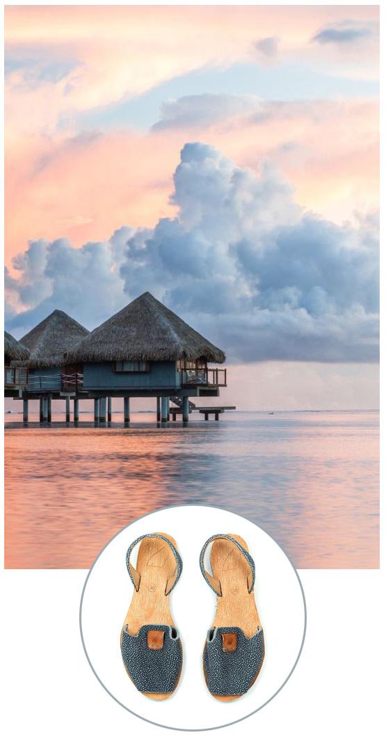 Satorisan Xamena sandal on Vacation