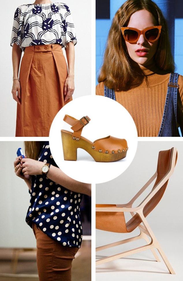 Brown is Back : Tan Tilda clog by re-souL