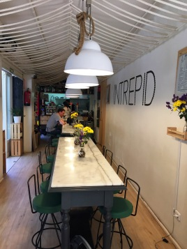 The charming dining room of Intrepid.