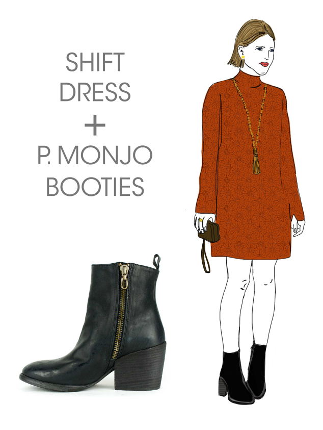 What to Wear Wednesday: P. Monjo Booties + Shift Dress