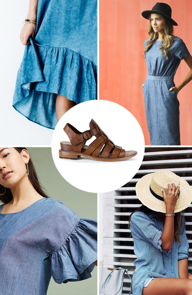 Spring Trend Chambray and Fisherman Sandals